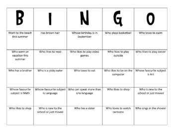 human bingo template human bingo class activity by laughter and coffee tpt
