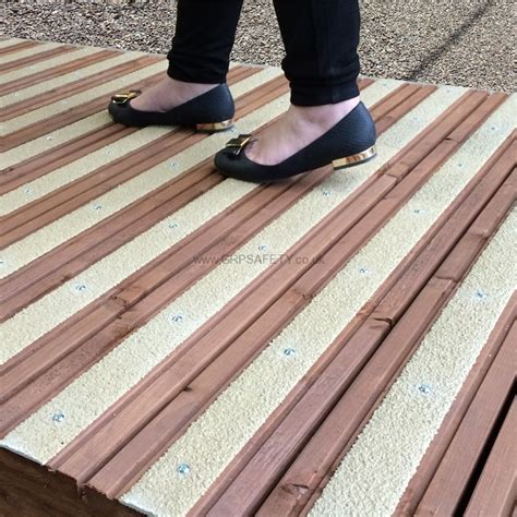 anti slip grp decking strips   slip decking grp safety