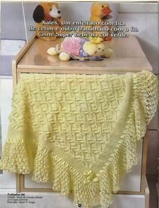 Tricotando Para O Nen U00e9m  Mantas Em Tric U00f4 E Croch U00ea