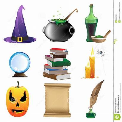 Magic Objects Halloween Brujas Objetos Witchcraft Background