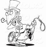 Evil Coloring Cartoon Noose Vector Outlined Clipart Person Toonaday Clipartmag sketch template