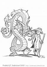 Andersson Fredrik Fantasy Elfwood Comic Comics Dragon Spiral Dwagon Happy Coloring Scifi Sci Fi Pages Cool Colouring Visit Fredrick Rpg sketch template