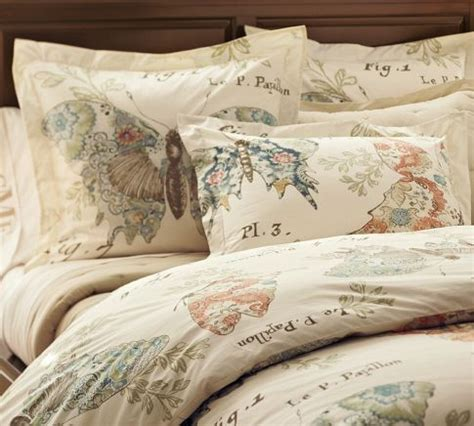 Pottery Barn Butterfly Wall Decor by Butterfly Script Duvet Cover And Sham Contemporary