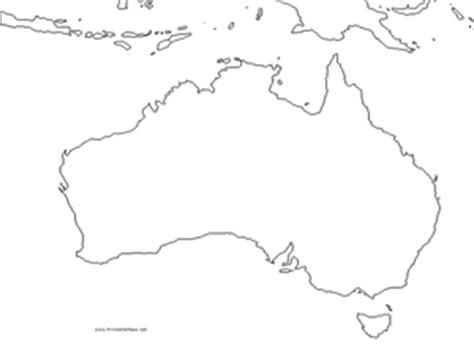 australia outline map graphic organizer