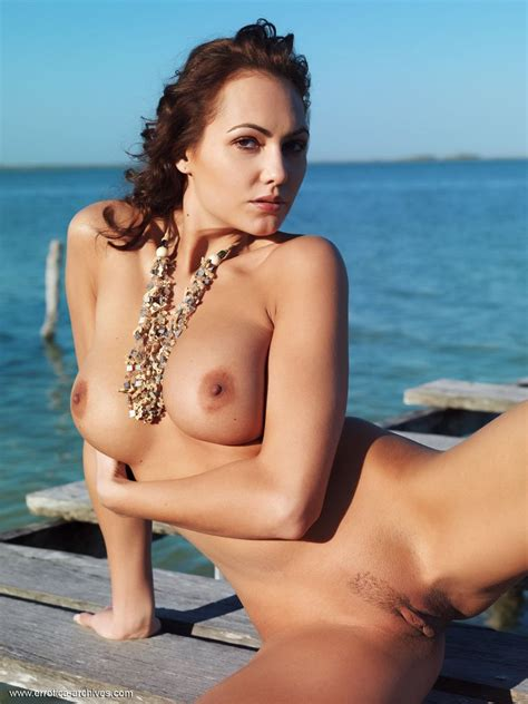Naked Woman On An Old Wooden Dock Busty Girls Db