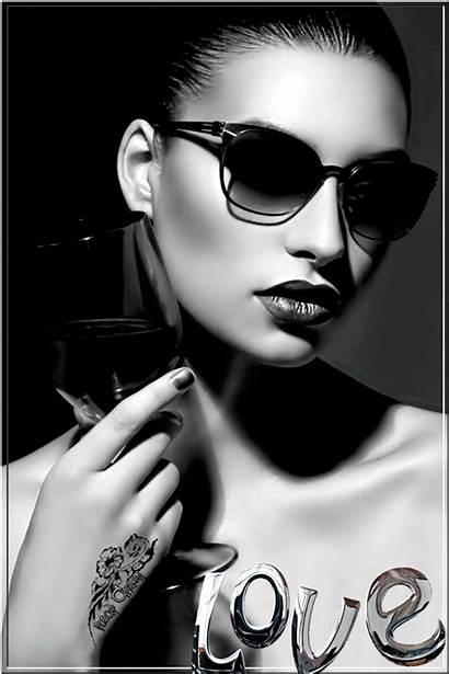 Negro Blanco Gifs Mujer Sunglasses Chicas Mujeres
