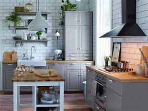 Cuisine grise cuisine en image for Idee deco cuisine avec credence cuisine gris anthracite
