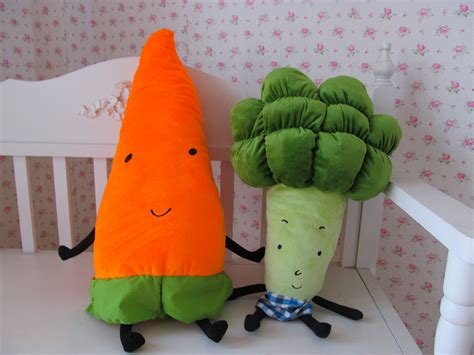 Ikea Plush Toys Vegetables Broccoli Cauliflower Carrot