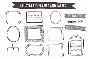hand drawn frames and labels illustrations on creative With how to print product labels at home