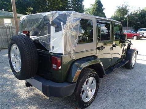 crashed jeep wrangler purchase used 2008 jeep wrangler 4dr sahara edition