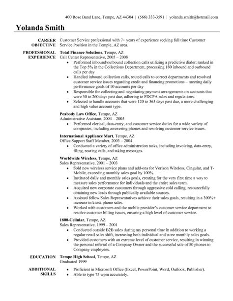 resume sles for customer service sles of resumes