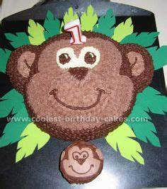 printable monkey face template tom da baker pinterest With monkey birthday cake template