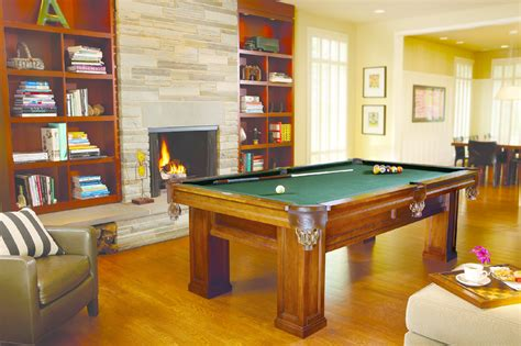 brunswick oakland  chestnut billiard table shipping