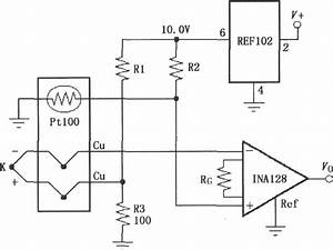 Constituted By Ina128  A Cold Junction Compensation Thermocouple Amplifier