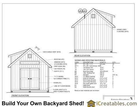 12x16 Storage Shed With Loft Plans by 12x16 Shed Plans With Dormer Icreatables