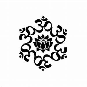 The Universal Om symbol Buddha Sacred Indian Lotus Flower ...