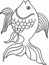 Goldfish Coloring Fish Bowl Printable Template Drawing Pa Colorings Getcolorings Crackers Getdrawings Recommended Goldfishes Colors sketch template