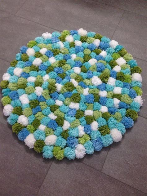 Pom Pom Teppich Pompom Teppich Blau Gr 252 N Tina S Ideenwelt Craft