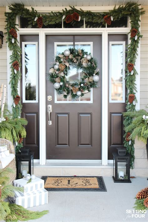 holiday cheer outdoor christmas decorations setting