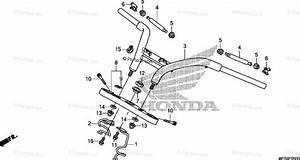 Honda Motorcycle 2010 Oem Parts Diagram For Handlebar