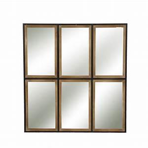 Miroir Style Verriere : miroir style verri re en m tal et bois structure pomax ~ Melissatoandfro.com Idées de Décoration