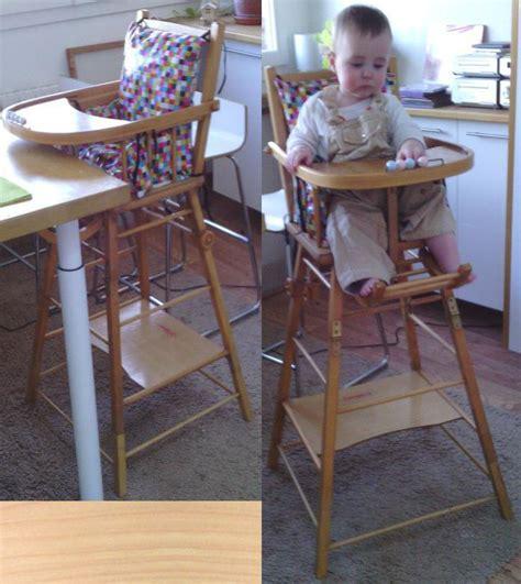 comment rehausser une chaise rehausser une chaise de bébé copain des copeaux