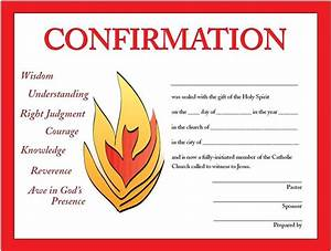 Print your own free confirmation certificates designed by for Confirmation certificate templates