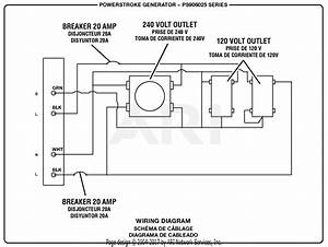 Homelite Ps906025 Powerstroke 6 000 Watt Generator Parts Diagram For Wiring Diagram