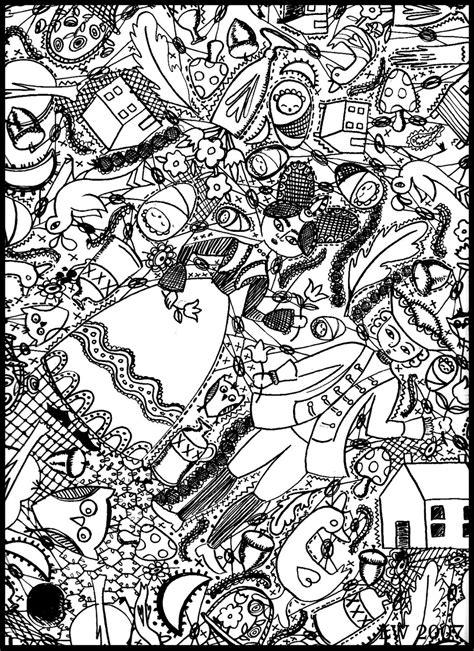 doodle coloring pages    print