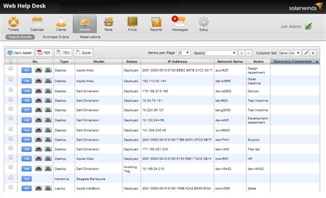 solarwinds web help desk reports asset inventory anuvrat info