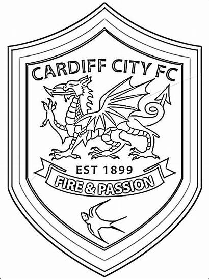 Cardiff Football Coloring Club Pages Wales Printable