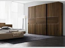Oak Finish Three Door Sliding Wardrobe Design Id564