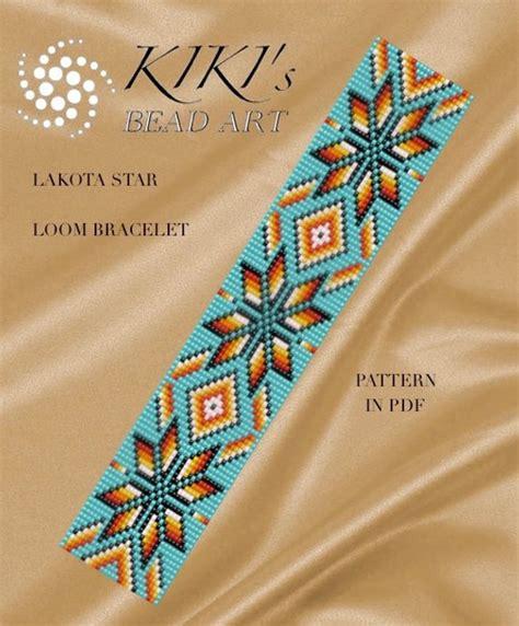 bead loom designs bead loom pattern lakota loom bracelet pdf pattern