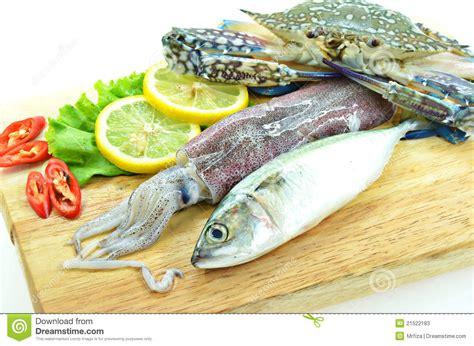 Various Raw Seafood Stock Photos