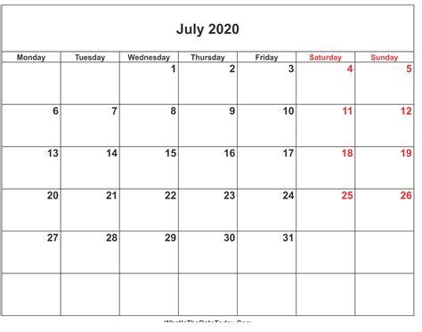 july printable calendar blank editable printable calendar