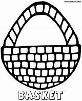 Basket Coloring Basket2 sketch template
