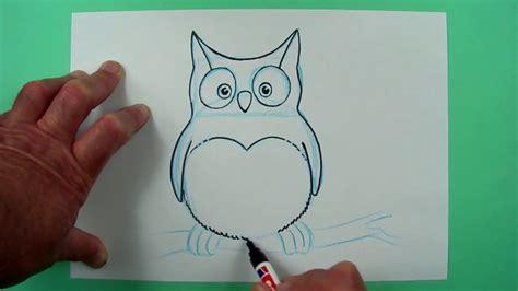 kleine eule ganz einfach gezeichnet zeichnen fuer kinder