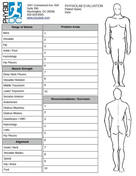 physiolab physical therapist evaluation washington dc