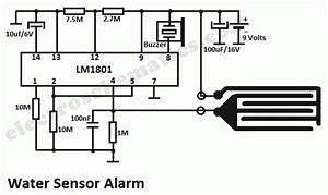 Water Sensor Alarm Circuit