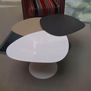 Table Basse Forme Galet : table basse 3 galets mati re grise saisons ~ Teatrodelosmanantiales.com Idées de Décoration