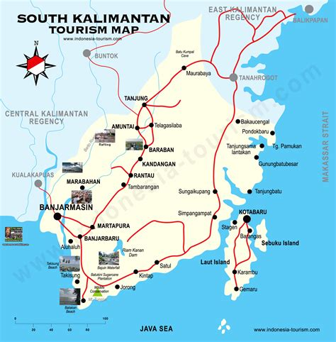 south kalimantan map peta kalimantan selatan south