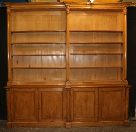 Scottish Pine Bookcase  Antique Bookcases