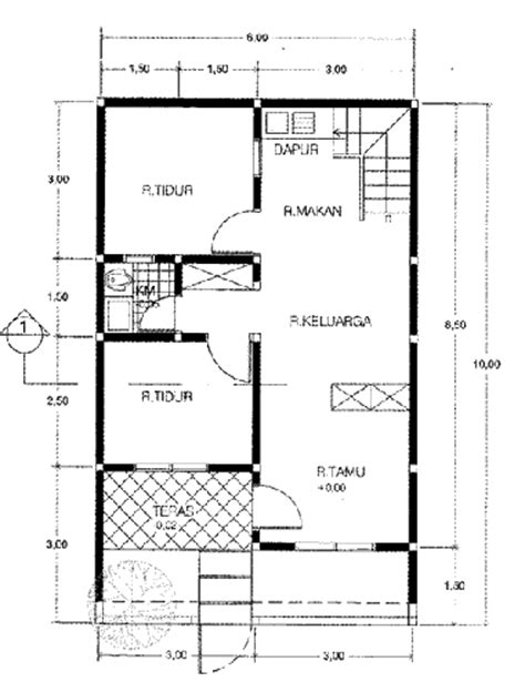 contoh gambar desain rumah sederhana  lantai