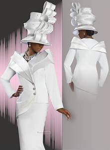 Exclusive Ladies Pure White Donna Vinci Suit with Trapunto