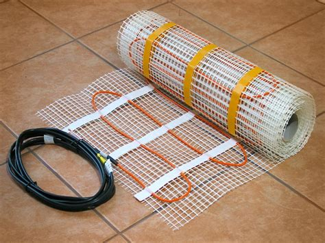 tile floor heating wire radiant heat systems heated tile