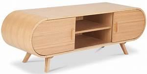 Meuble Tele En Bois : meuble multim dia bois naturel jonbo ~ Melissatoandfro.com Idées de Décoration