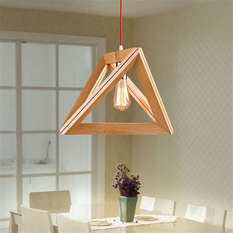New Modern Art Wooden Ceiling Light Pendant Lamp Lighting