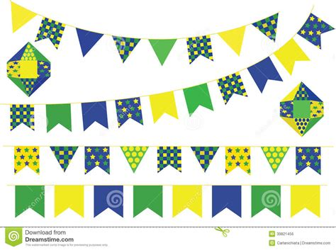 bunting banners stock vector image