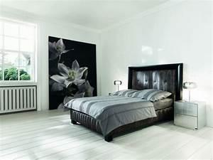 Chambre Gris Blanc : deco chambre adulte lit noir ~ Melissatoandfro.com Idées de Décoration