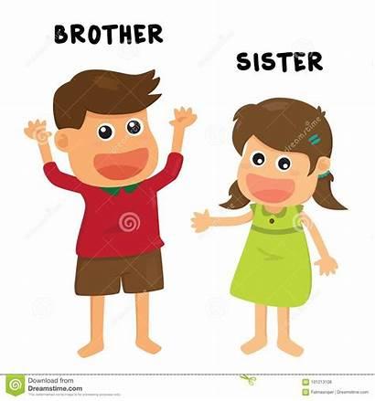 Brother Sister Illustration